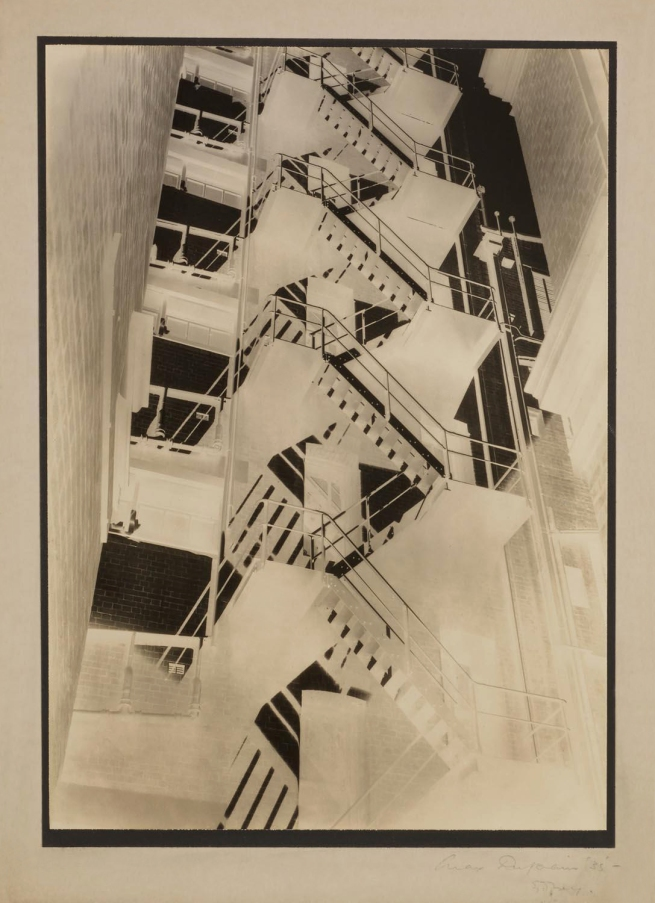 Max Dupain. 'Fire Stairs at Bond Street Studio (Solarised)' 1935