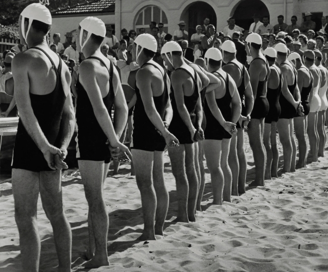 Max Dupain (Australian, 1911-1992) '(Life Savers at Attention in a Row)' 1940s
