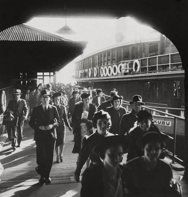 Max Dupain. 'Morning Commuters, The Kabu, Circular Quay' 1938