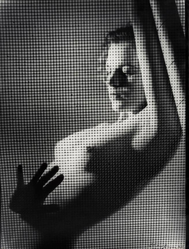 Max Dupain (Australian, 1911-1992) '(Nude Figure behind Wire Mesh)' 1930s