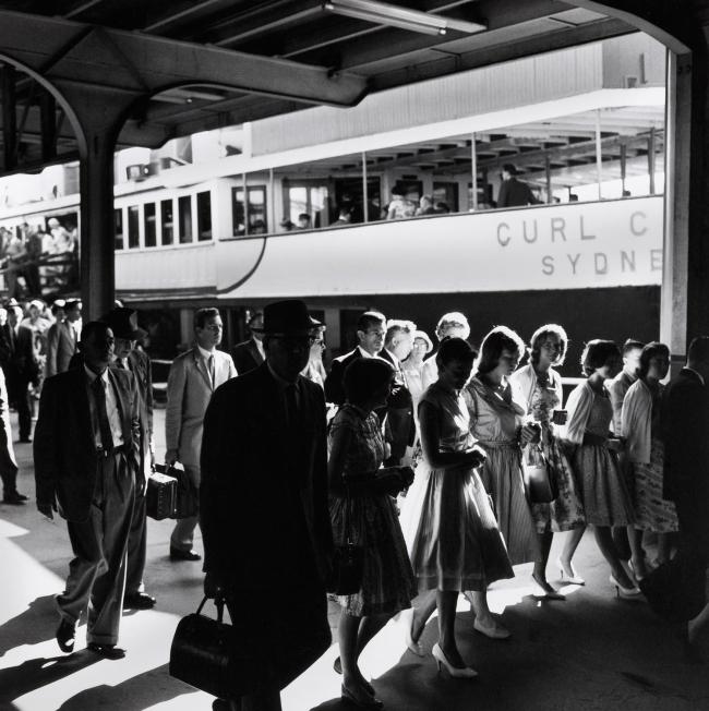 Max Dupain. '(Passengers Disembarking from Ferry)' 1950s