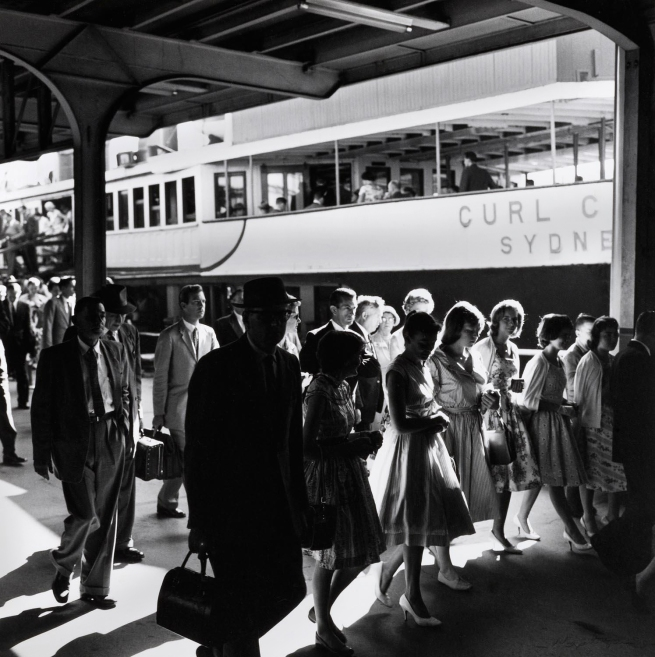 Max Dupain. '(Passengers Disembarking from Ferry)' 1950s