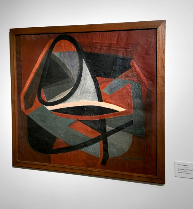 Victor Vasarely (Hungarian-French, 1906-1997) 'Composition' 1948 (installation view)