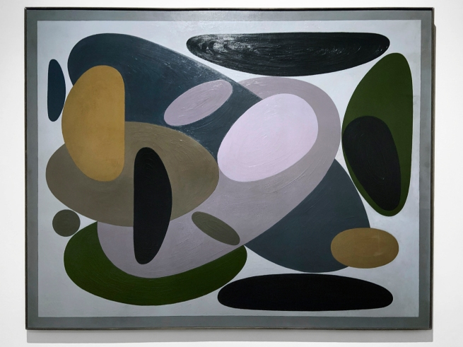 Victor Vasarely (Hungarian-French, 1906-1997) 'Versant' 1952 (installation view)