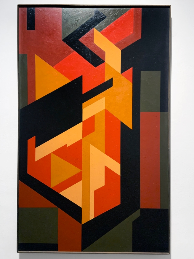 Victor Vasarely (Hungarian-French, 1906-1997) 'Lom-Lan 2' 1953 (installation view)