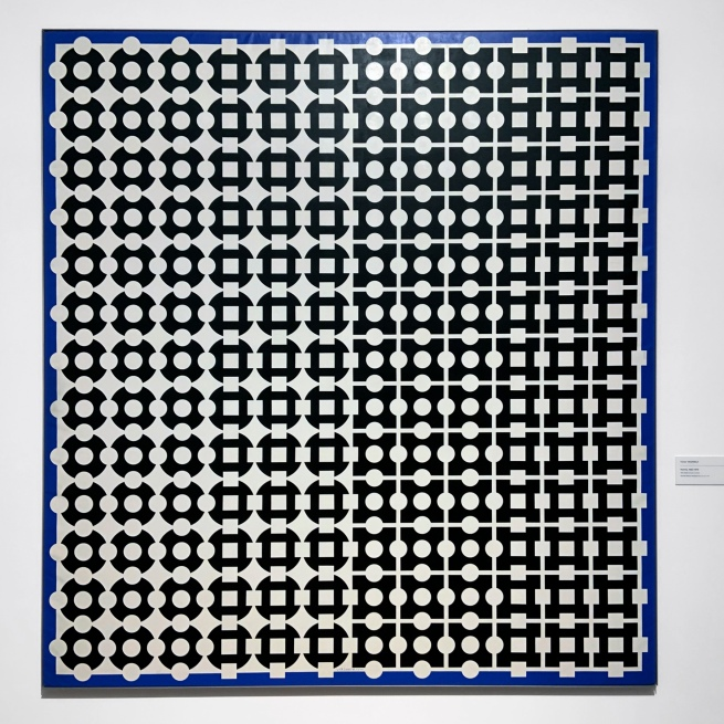 Victor Vasarely (Hungarian-French, 1906-1997) 'Norma' 1962-1979 (installation view)