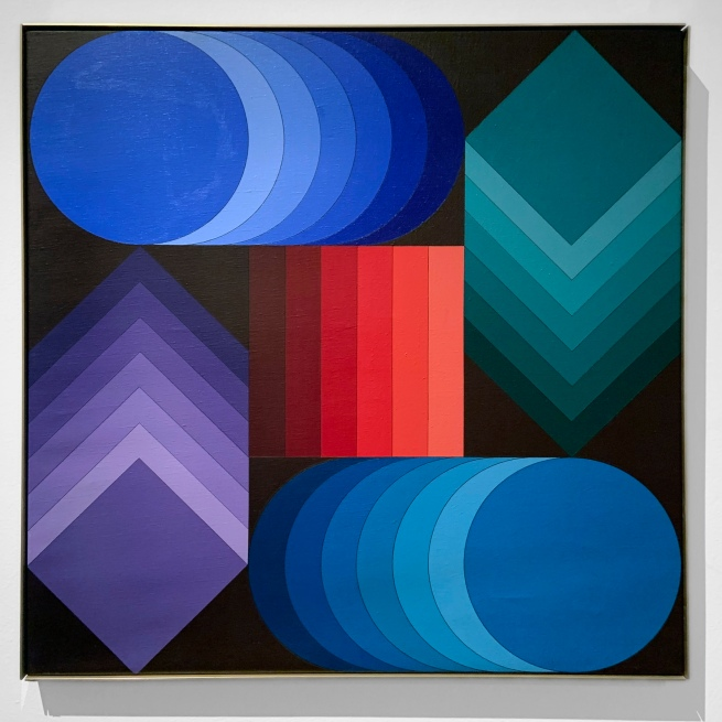 Victor Vasarely (Hungarian-French, 1906-1997) 'Stridio-Z' 1976-1977 (installation view)