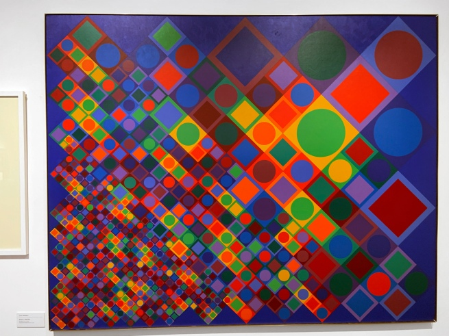 Victor Vasarely (Hungarian-French, 1906-1997) 'Marsan-2' 1964/1974 (installation view)