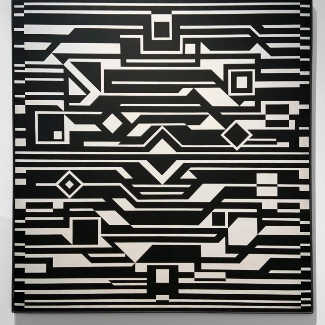 Victor Vasarely (Hungarian-French, 1906-1997) 'Gizeh' 1955/1962 (installation view)