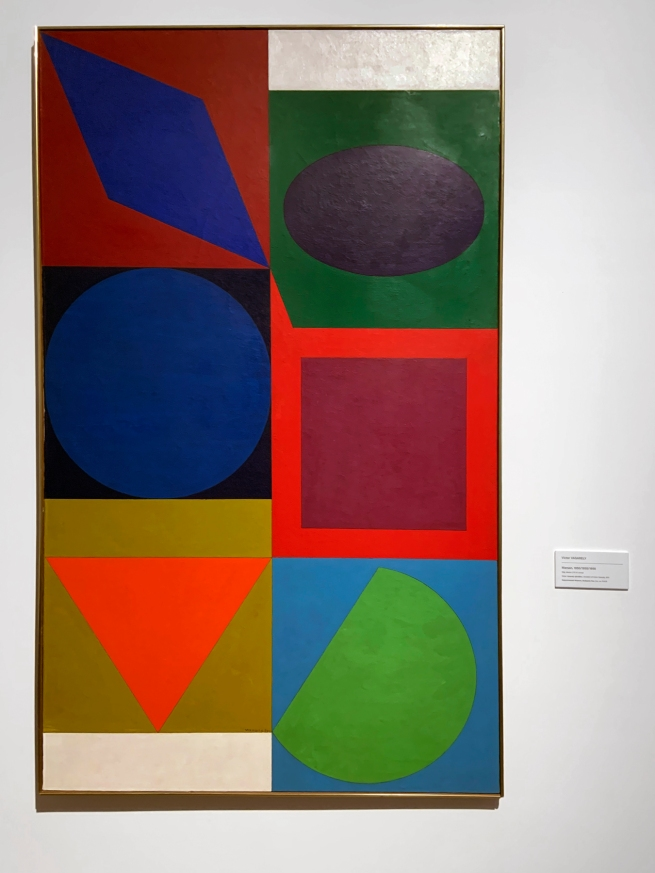 Victor Vasarely (Hungarian-French, 1906-1997) 'Marsan' 1950/1955/1958 (installation view)