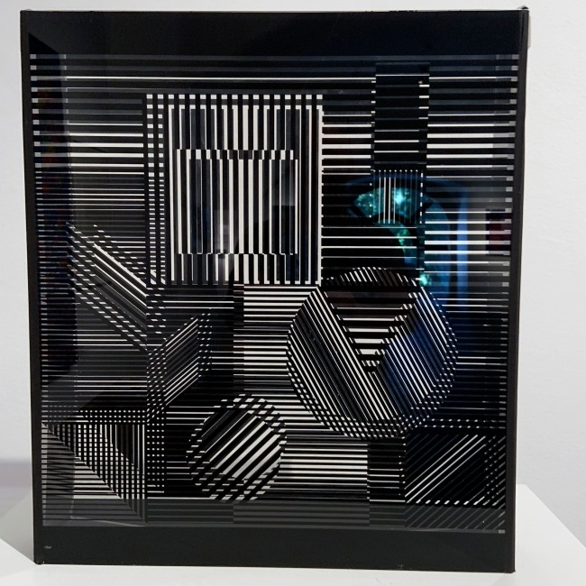 Victor Vasarely (Hungarian-French, 1906-1997) 'Naissances' 1954/1960 (installation view)