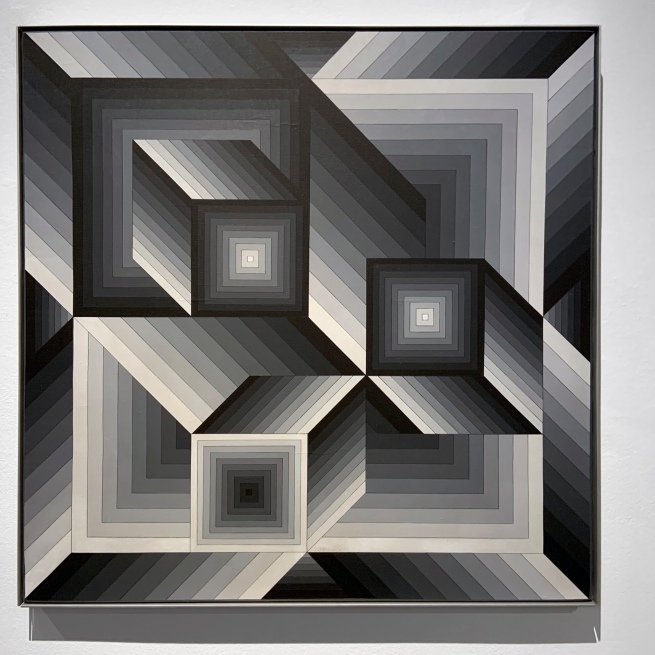 Victor Vasarely (Hungarian-French, 1906-1997) 'Zilia' 1981 (installation view)