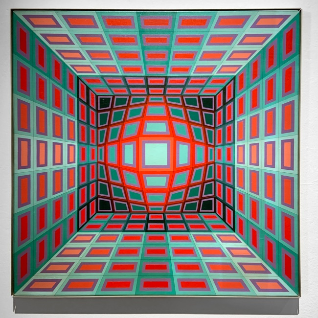 Victor Vasarely (Hungarian-French, 1906-1997) 'Yllus' 1978 (installation view)