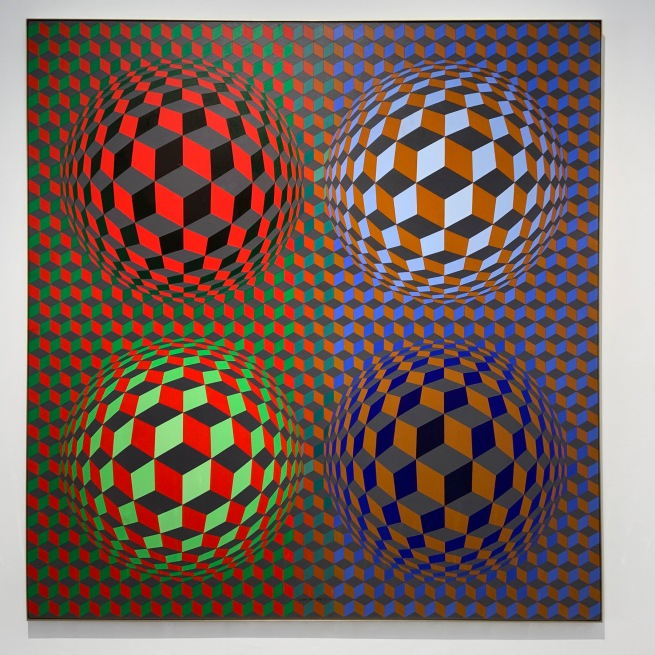 Victor Vasarely (Hungarian-French, 1906-1997) 'Stri-oet' 1979 (installation view)