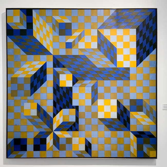 Victor Vasarely (Hungarian-French, 1906-1997) 'Quivar (Ouivar)' 1974 (installation view)