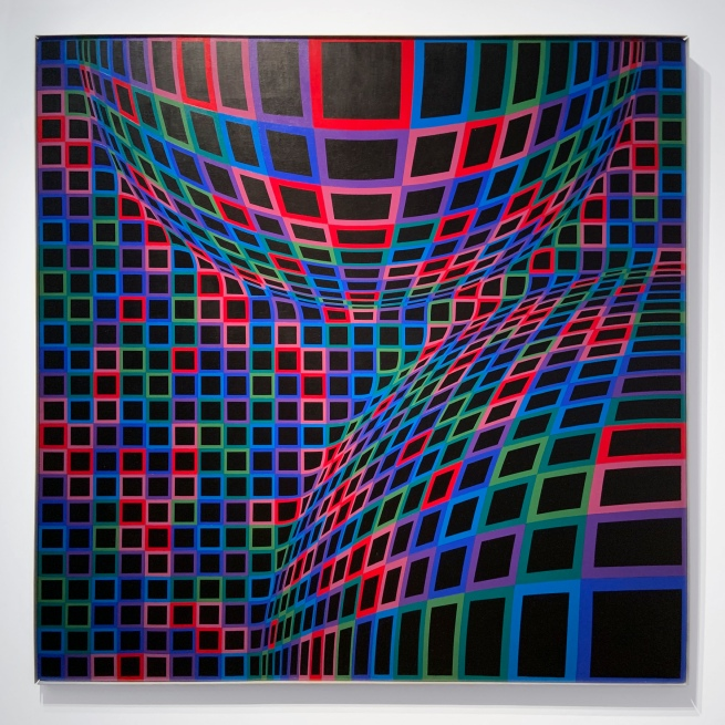 Victor Vasarely (Hungarian-French, 1906-1997) 'Bull' 1973/1974 (installation view)