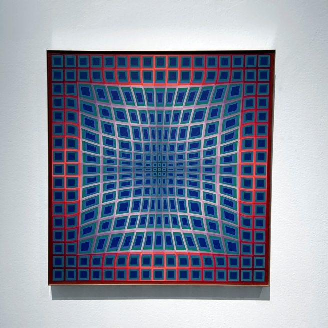 Victor Vasarely (Hungarian-French, 1906-1997) 'V.P. 102' 1979 (installation view)