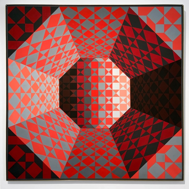 Victor Vasarely (Hungarian-French, 1906-1997) Bi. Octans 1979 (installation view)