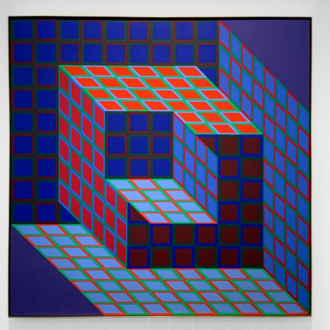 Victor Vasarely (Hungarian-French, 1906-1997) 'Kotzka' 1973-1976 (installation view)