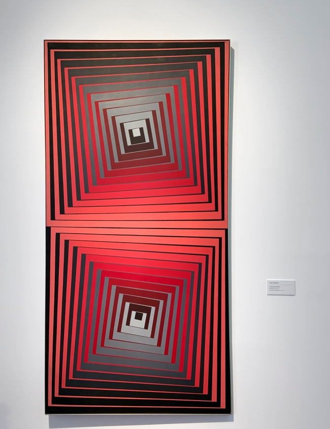 Victor Vasarely (Hungarian-French, 1906-1997) 'Vonal-Ket' 1972/1977 (installation view)
