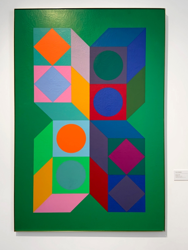 Victor Vasarely (Hungarian-French, 1906-1997) 'Sonora' 1973 (installation view)