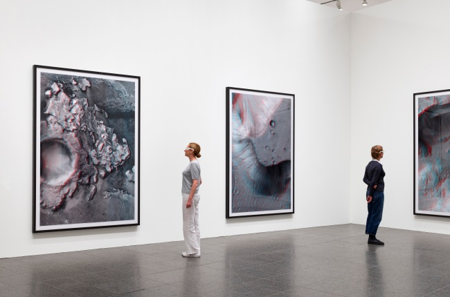 Thomas Ruff. Installation view K20, Kunstsammlung Nordrhein-Westfalen From series: 'ma.r.s'
