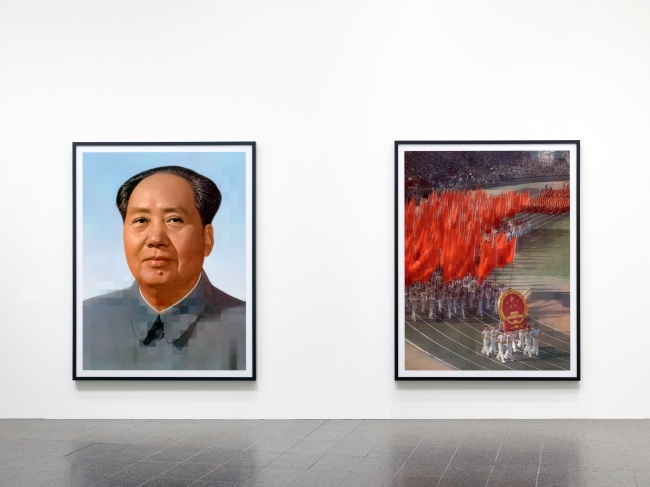 Thomas Ruff (German, b. 1958) Installation view K20, Kunstsammlung Nordrhein-Westfalen. From series: 'tableaux chinois'