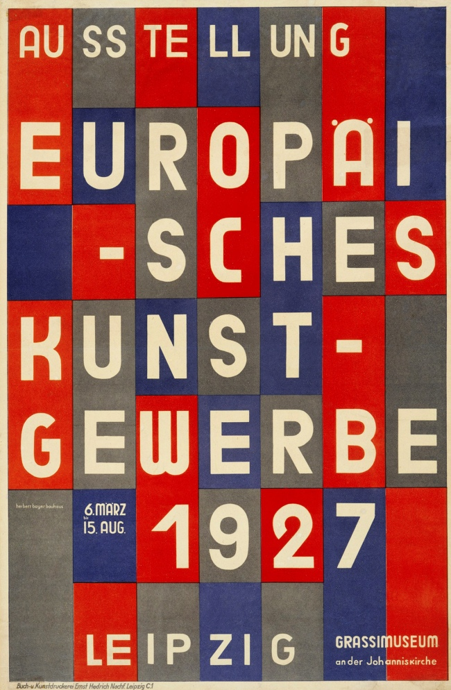 Herbert Bayer (1900-1985) 'Ausstellung Europäisches Kunstgewerbe' (Exhibition of European applied arts) 1927