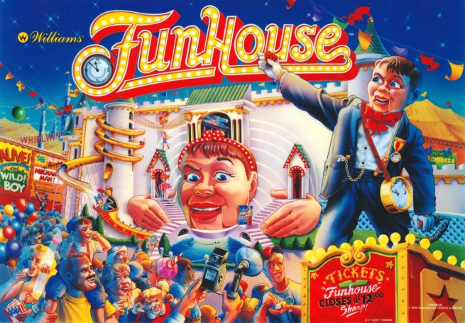 FunHouse backglass