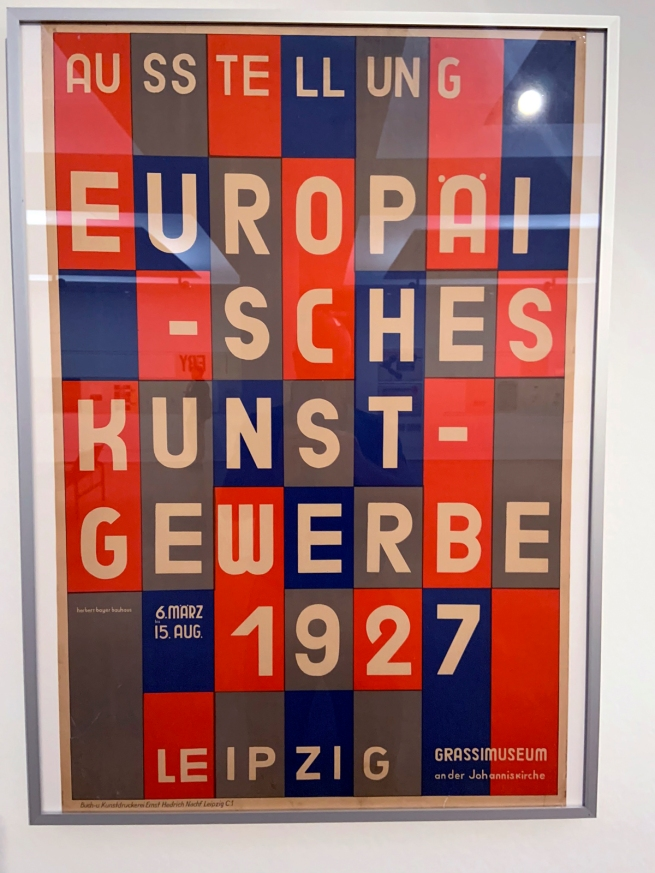 Herbert Bayer (1900-1985) 'Ausstellung Europäisches Kunstgewerbe' (Exhibition of European applied arts) 1927 (installation view)