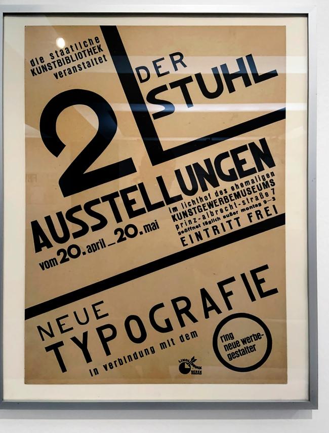 László Moholy-Nagy (Hungarian, 1895-1946) 'Der Stuhl. Neue Typografie' (New typography) 1929 (installation view)