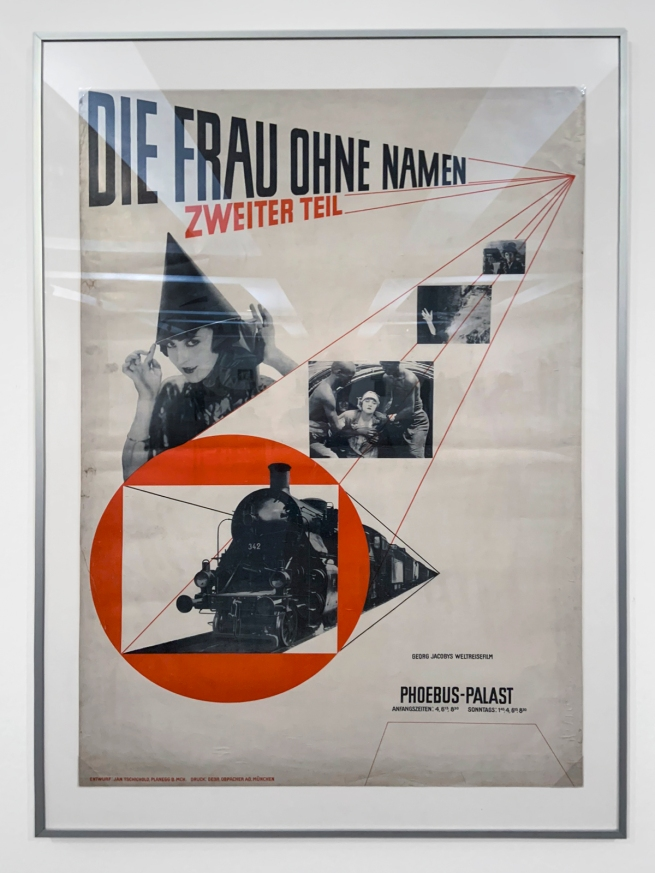 Jan Tschichold (1902-1974) 'Die Frau ohne Namen' (The woman without a name) 1927 (installation view)