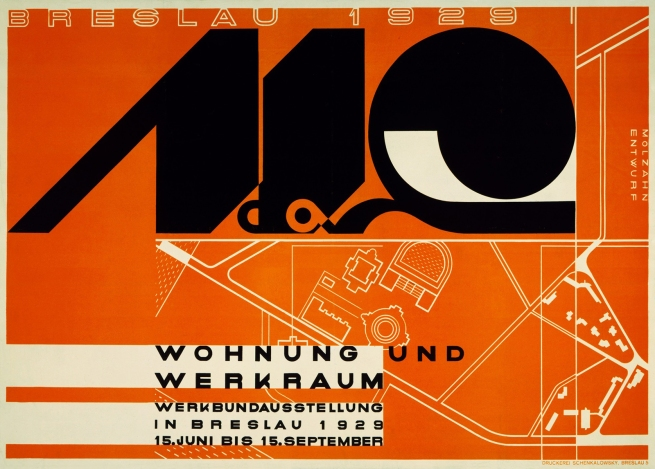Johannes Molzahn (1892-1965) 'Wohung und Werkraum, Werkbundausstellung in Breslau' (Apartment and workshop, Werkbund exhibition in Breslau) 1929
