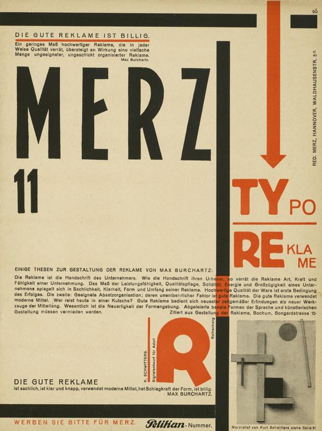 Kurt Schwitters (German, 1887-1948) 'Merz 11 Pelikan Nummer, Zeitschrift' 1924