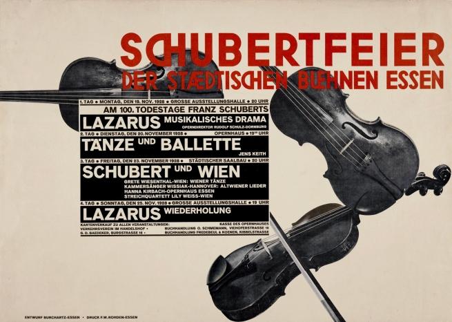 Max Burchartz (1887-1961) 'Schubertfeier der Städtischen Bühnen Essen' (Schubert celebration of the municipal theatres of Essen) 1927