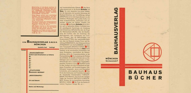 László Moholy-Nagy (Hungarian, 1895-1946) 'Where is typography headed? Chart 22' 1929