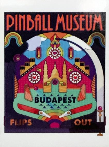 Budapest Pinball Museum magnet