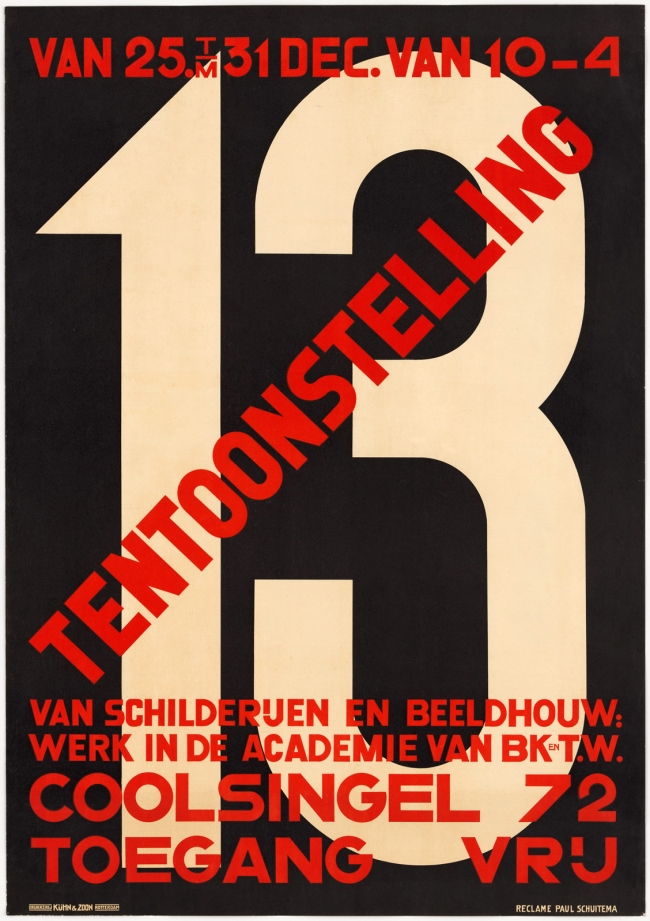 Paul Schuitema (1897-1973) '13 Tentoonstelling van Schilderijen en Beeldhouw' (13 Exhibition of Paintings and Sculptures) 1927