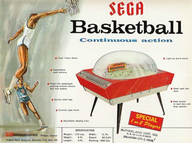 Sega Basketball flyer