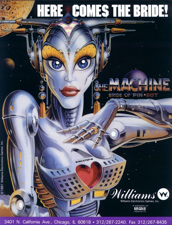 The Machine: Bride of Pinbot flyer
