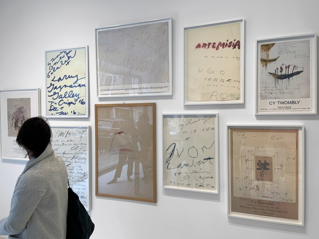 Cy Twombly Shop interior showing posters