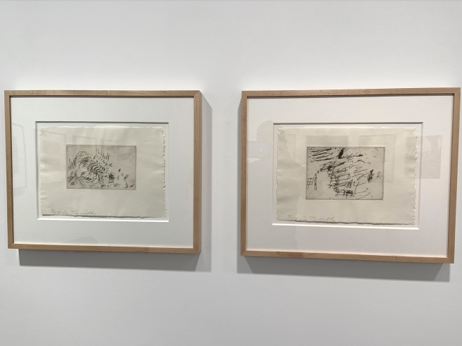 Installation view of the exhibition 'Cy Twombly: Sculpture' at Gagosian, London