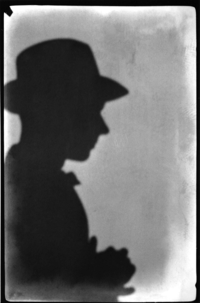 Walker Evans (American, 1903-1975) 'Shadow, Self-Portrait (Right Profile, Wearing Hat), Juan-les-Pins, France, January 1927' 1927