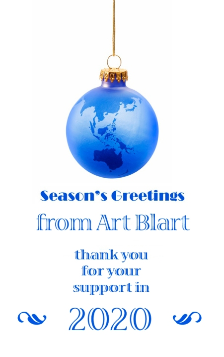 Season's greetings from Art Blart 2020