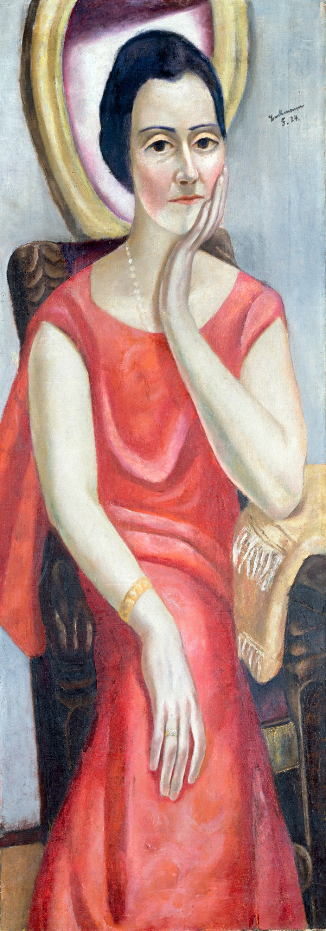 Max Beckmann. 'Portrait of Käthe von Porada' 1924