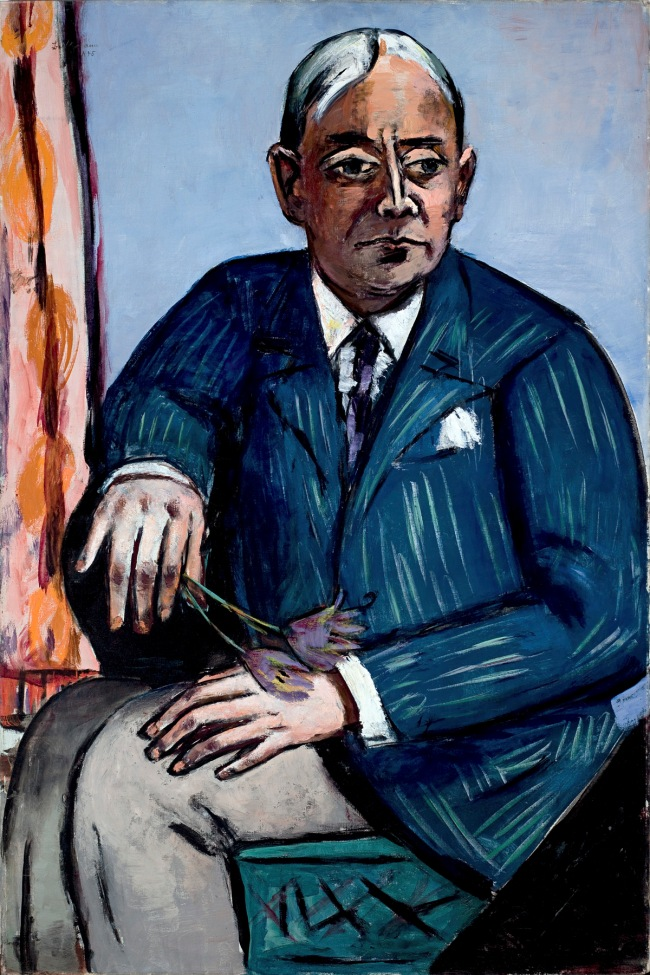 Max Beckmann. 'Portrait of Ludwig Berger' 1945