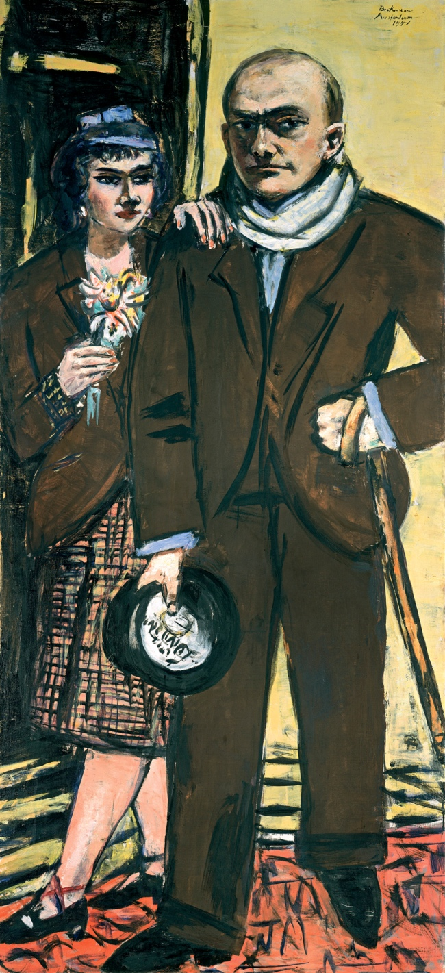 Max Beckmann. 'Double portrait (Max and Mathilde Beckmann)' 1941