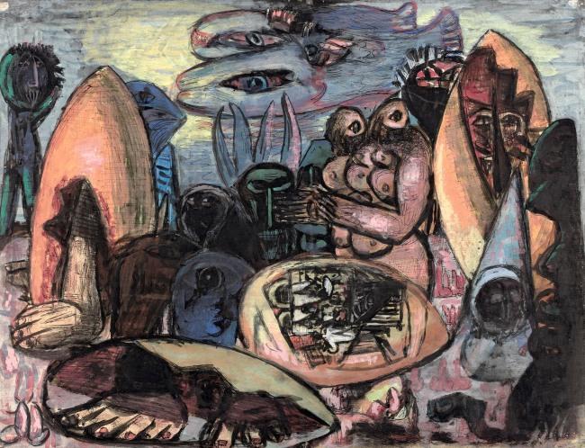 Max Beckmann. 'Early humans – primeval landscape' 1939 (revised 1947/48)