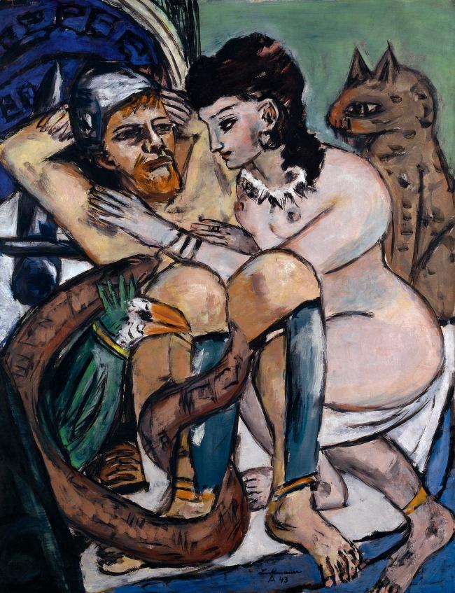 Max Beckmann (German, 1884-1950) 'Odysseus and Calypso' 1943