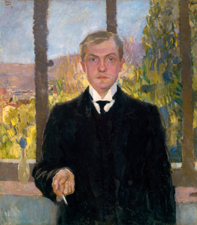 Max Beckmann (German, 1884-1950) 'Self-portrait, Florence' 1907